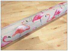 California flamingos. Long, dbl doors, Washable-filled door draft snake-120 cm