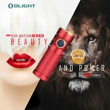 Olight S1R Baton II Mini LED Torch 1000lm EDC Flashlight RED (Limited Edition)