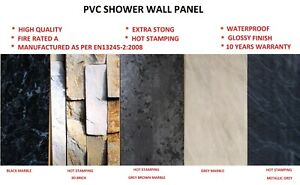 PVC Bathroom Shower Panel 1m Wide x 2.4m Long Wet Wall Cladding-10mm Thick