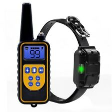 800m LCD Waterproof IP67 Rechargeable Pet Dog Remote Training Shock Bark Collar