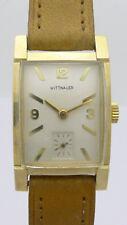WITTNAUER 14 KARAT GOLD  CURVEX HERREN-ARMBANDUHR aus den USA CA. 30/40er JAHREN