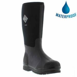 Muck Boots Chore Hi Wellies Mens Womens Black Wellington Boots Size 4-13