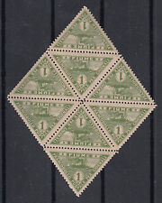 FIUME BLOCCO CURIOSO GIORNALI 1920 TRIANGOLARE  DI 8 PEZZI NUOVI MNH** IN  FOTO