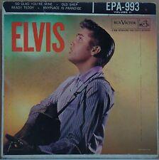 "ELVIS PRESLEY 1956 Volume 2 EPA 993 1st press P/S 7"" EP USA Rca Victor"
