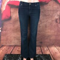 Daisy Fuentes Womens Boot Cut Dark Jeans Size 6 30x32