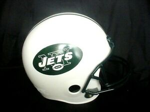 VINTAGE NEW YORK JETS FRANKLIN NFL FOOTBALL REPLICA HELMET YOUTH TAIL GATE PARTY