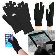 Winter Knit Warm Thermal Insulated Finger Mitten With Touch Screen Gloves Black