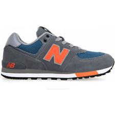New Balance 574's Junior - Grey/Blue/Orange