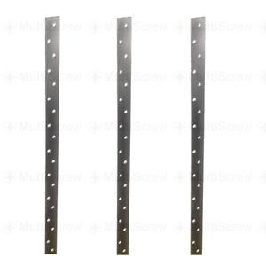 1000mm Flat Restraint Strap Heavy Duty Galvanised Steel Joist Rafter Roof Tie 1m