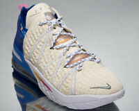 Nike LeBron XVIII Los Angeles By Day Men's Light Cream Pink Basketball Sneakers