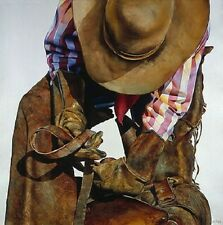 """Saddle Straps"" Nelson Boren Limited Edition Print - Western Art"