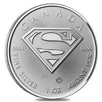 2016 1 oz Silver Canadian Superman: S-Shield .9999 Fine $5 Coin