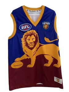 AFL BRISBANE LIONS FOOTBALL JERSEY/SINGLET Adult XL Free Shipping In Aus Wide