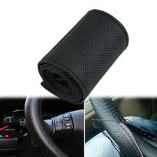Cowhide Car Truck Leather Steering Wheel Cover With Needles + Thread DIY