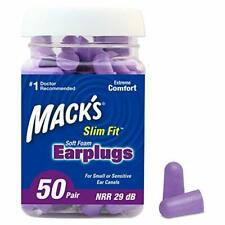 Mack's Slim Fit Soft Foam Earplugs, 50 Pair - Small Ear Plugs for Sleeping