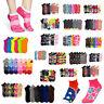 12 pairs Women Girl Neon Colors Ankle Socks Low Cut No show School Lot 6-8 9-11
