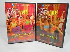 Beach Body YOGA BOOTY BALLET DVDs Hip Hop Abs & Cardio Cabaret Burlesque