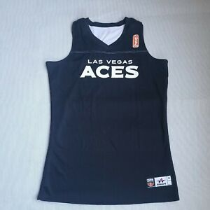 WNBA LAS VEGAS ACES BASKETBALL REVERSABLE PRACTICE JERSEY MEDIUM BLACK & WHITE