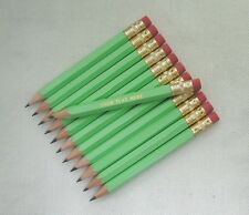 """48 """"Pastel Green""""  Personalized Golf Pencils with Erasers"""
