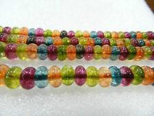 "5x8mm Roundel Multicolor Gem Tourmaline Loose Beads 15"""