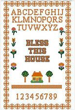 "Bendiga a esta Cámara la puntada cruzada contada Kit Sampler 13,5 "" x 8,5 "" 34.3 cm x 21,6 cm"