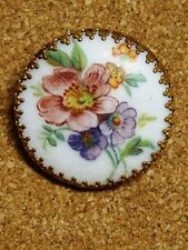 "Vintage Transferware ""Sugar Coated"" Floral Scarf Ring Holder Clip"