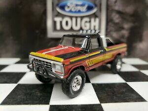 CUSTOM BUILTGreenlight 1/64 Lifted 1978 FORD F-250 Off-Road Pickup Tow Hitch 4x4