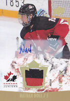 15-16 Team Canada Juniors Nathan Noel /199 Auto Patch Upper Deck 2015