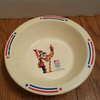 Vintage 1991 Kelloggs USA Olympic Tony The Tiger Plastic Cereal Bowl Collectible