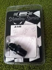 """NEW   Mr. Gasket Shadow Series A146 Pipe to AN Straight 1/4"""" to -6"""