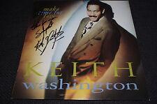 "KEITH WASHINGTON R&B signed Autogramm ""MAKE TIME FOR LOVE"" Platte LP InPerson"
