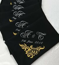 Personalised Wedding, Anniversary Embroidery Napkins pack of 10