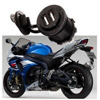 Waterproof 12V Dual USB Power Adapter Charger Socket Outlet for Motorcycle Car
