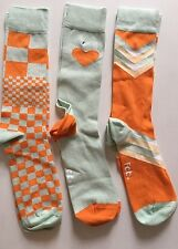 3 Fab. Boot Socks Patterns by Many Mornings Size 10-13 Fits Shoe 10