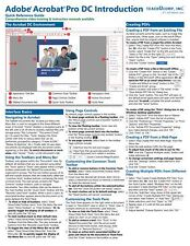 Adobe Acrobat Pro DC Training Guide Quick Reference Card 4 Page Cheat Sheet
