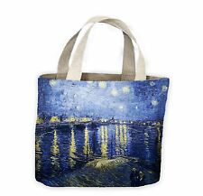 Vincent Van Gogh Notte stellata sul Rodano FIUME Tote Shopping Bag for Life