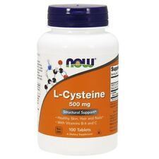 Now Foods L-CYSTEINE 500 mg with Vitamin C - 100 tabs HEALTHY SKIN, HAIR, NAILS