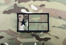 Multicam Texas State Flag Patch TX Black Special Forces CAG Afghanistan Hook
