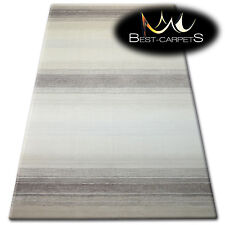 "VERY THICK AND DENSELY WOVEN ACRYLIC, WOOL RUGS ""PATARA"" Lines beige CARPETS"