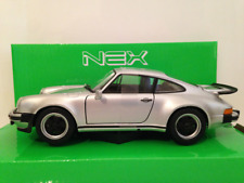 Porsche 911 Turbo 3.0 Silver 1974 Welly 1:24 Scale 24043S NEW