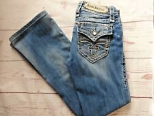 Rock Revival Celine Boot Jeans Distressed Low Rise Stretch Embellished Womens 27