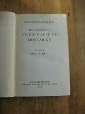 Montaigne's Essays, John Florio's translation into English (1898)