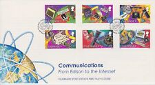 Unaddressed Guernsey FDC Cover 1997 Communications 10% OFF 5