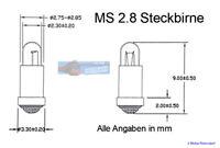 Lampes de Rechange Micro-Ampoules 2,8x4mm - Transparent - 10 Unités