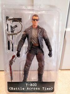 "Neca Terminator 2 T800 Battle Across Time Action Figure opened box 7"""