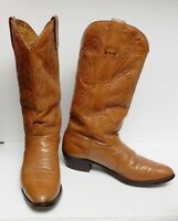 Morgan Boots Cowboy Western Leather Made in Spain Brown Tan Men's 12