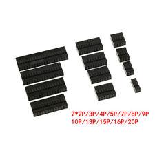 DuPont 2.54mm Pitch Conector PCB Carcasas Doble Fila Pin 2x2/3/4/5/6/7/8/9 ~ 20P
