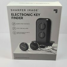 NEW Sharper Image Portable Electronic Key Finder Locator w/ 2 Key Fobs
