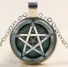 Witchcraft Pentacle Celtic Knot Pentagram Art Pendant Wiccan Necklace Chain 122