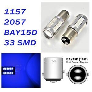 Blue Brake Light 1157 2357 3496 7528 BAY15D 33 SMD LED Bulb A1 For Nissan LA